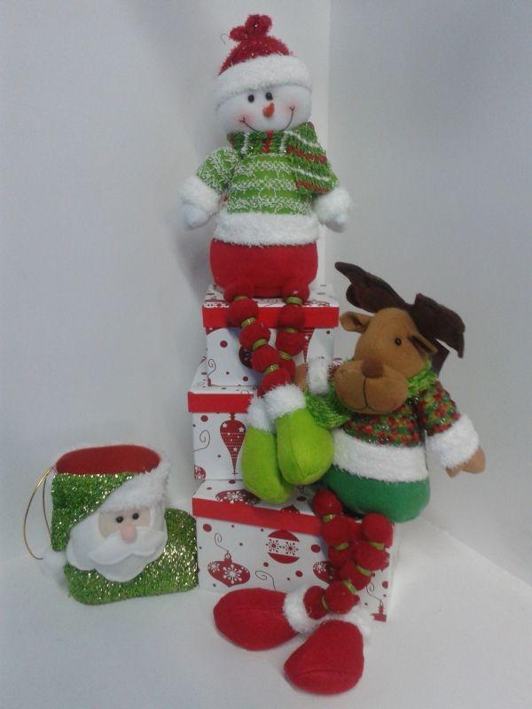 Mu ecos decorativos navidad hombre nieve y reno - Manualidades munecos de navidad ...