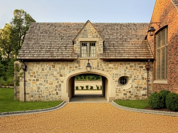 17 best images about porte cochere on pinterest for Cottage house plans with porte cochere