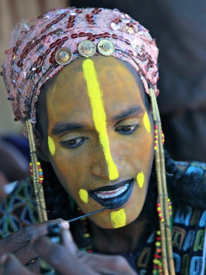 Facial scarring in fulani tribe something is