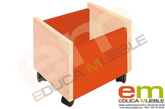 #Contenedor con #ruedas. #Mobiliario #educativo. Diversos #colores - Tienda Educamueble