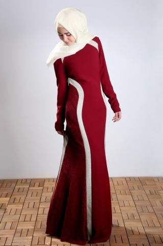 Elegant dress, has two white layers at side. This pretty dress is one of your best choices for your special events. #hijab #hijabstyle #hijabfashion #hijabista #fashion