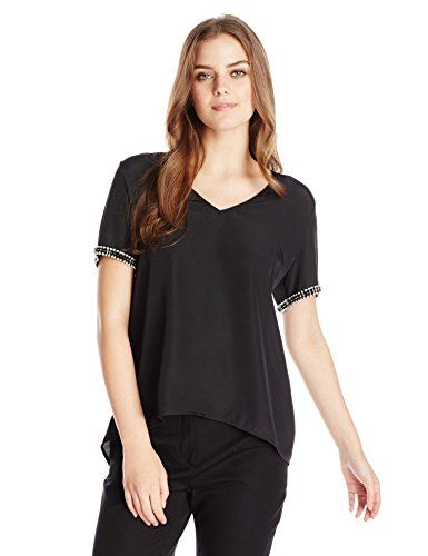 Wear To Work Womens Beaded Short Sleeve Top  www.weartowork.us #weartowork #Blouse