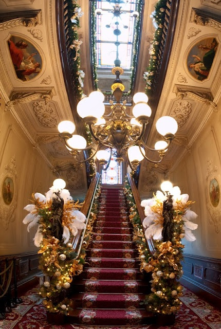 Grand Staircase in one of Portland's Victorian Mansions//