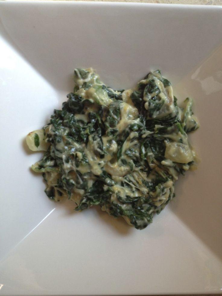 Easy creamed spinach...great way to get your kids to eat spinach! so good!