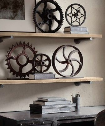 Set of vintage industrial machinery gears. - The Washington Post