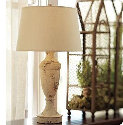 Tutorial for pottery barn brentwood table lamp base for Metal floor lamp makeover