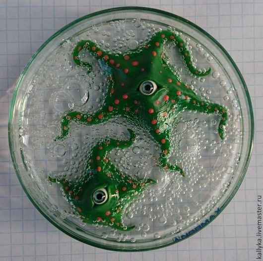 Подарки на Хэллоуин ручной работы. Ярмарка Мастеров - ручная работа. Купить Чашка Петри с пузырями. Handmade. Тёмно-зелёный, монстрик