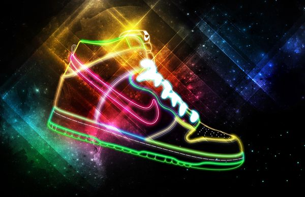 Nike: Be True is a self-initiated piece inspired by the Be True College Dunk sneaker.Nike Lights, Design Tutorials, Most Popular, Vibrant Cosmic, Lights Painting, Graphics Design, Cosmic Lights, Dope Art, Photoshop