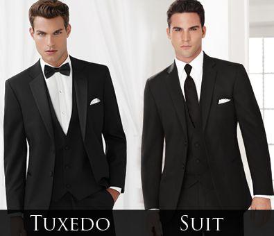 Black 'Essential' Tuxedo vs Black Ceremonia Suit