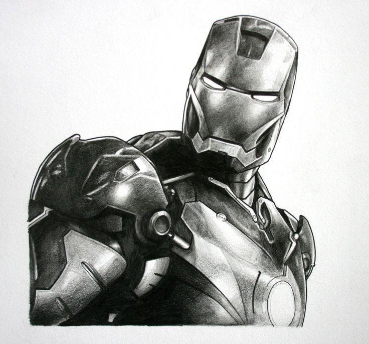 Iron Man, Avengers Original Pencil drawing | Cool ...