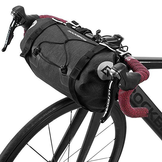 Rock Bros Bikepacking Bike Handlebar Bag Waterproof Large Dry Pack Bicycle Front Bag Roll For Mtb Mountain Road Bike Saddle Bags Handlebar Bag Bike Handlebars