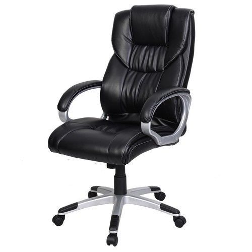 Executive Office Chair PU Leather Ergonomic High Back Computer Desk NEW Black #1