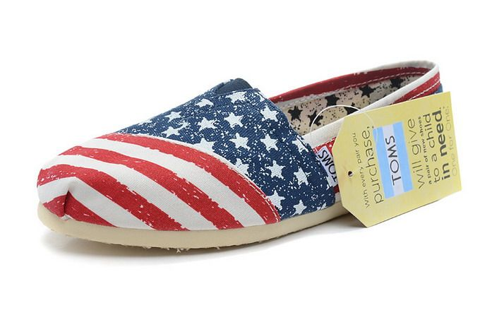 Toms Classic Womens Shoes USA Flag [Toms024] - $22.00 : Toms Shoes Outlet,Cheap