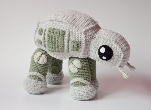 An Adorable Crocheted Version of Star Wars' AT-AT Walker : Also a sign your grandmother has joined the empire!