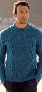 Синий мужской джемпер