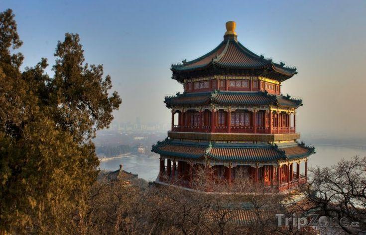Fotka, Foto Typická čínská architektura poblíž Pekingu (Čína)