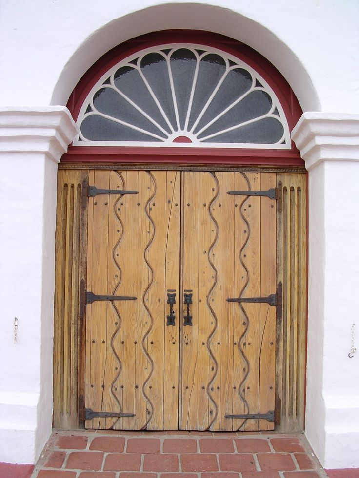 Front doors of the Historic Church Old Mission San Luis Rey. & 13 best Architecture u0026 Painted Motifs images on Pinterest ... pezcame.com
