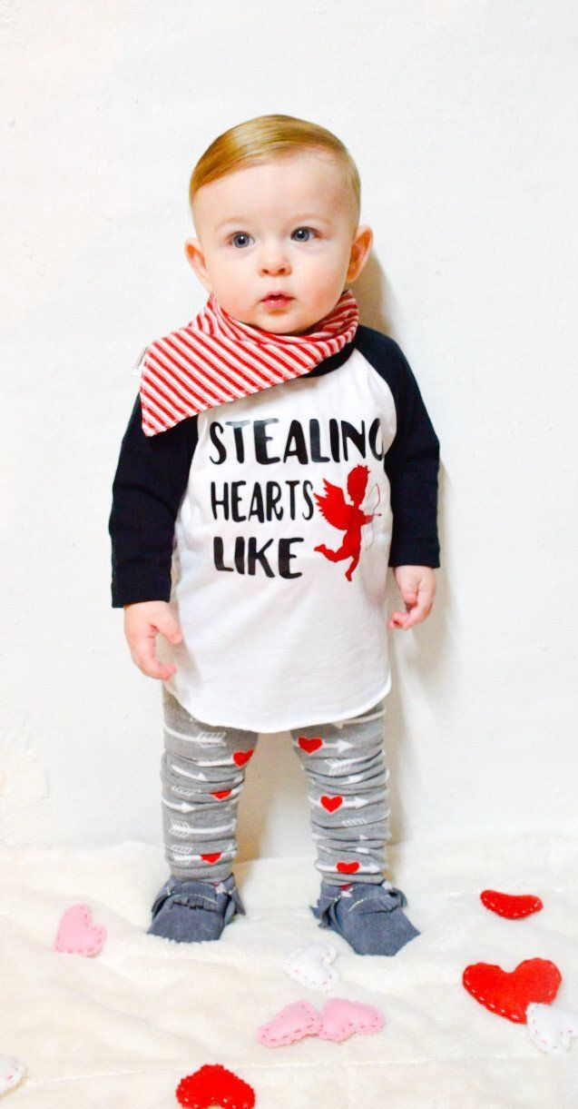 3ed3c985f203 Valentines Day Outfit Baby Boy- Stealing hearts like cupid #boyoutfits