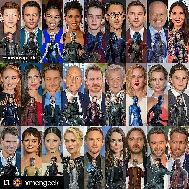 All of the X-Men Cast from young old & solo. Credit to @xmengeek  #Xmen…