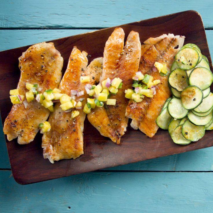 Vivaneau grillé avec salsa à l'ananas grillé Recette   Weight Watchers Canada