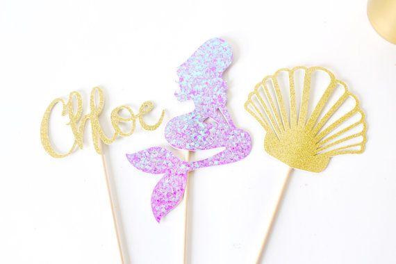 Mermaid Centerpiece - Mermaid Party - Mermaid Birthday - Under the Sea Centerpiece - Mermaid Decoration -  - Little Mermaid Party
