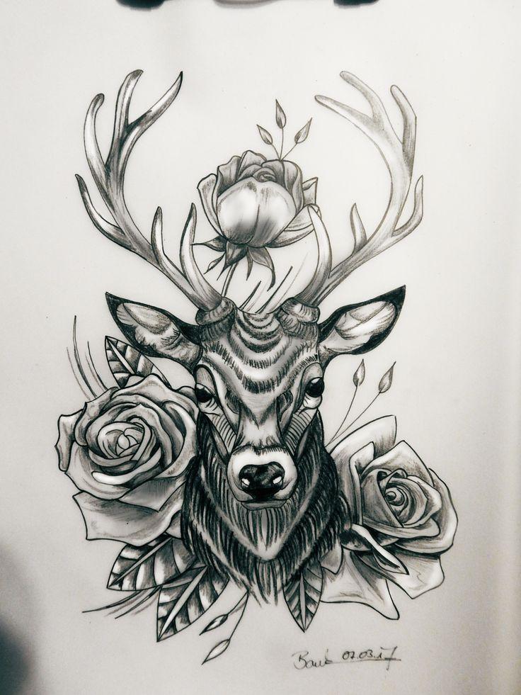 die besten 25 jagd tattoos ideen auf pinterest. Black Bedroom Furniture Sets. Home Design Ideas