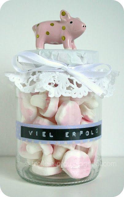 Frollein pfau erfolg im glas d rky geschenke geschenke im glas a diy geschenke - Mobelknopfe glas ...
