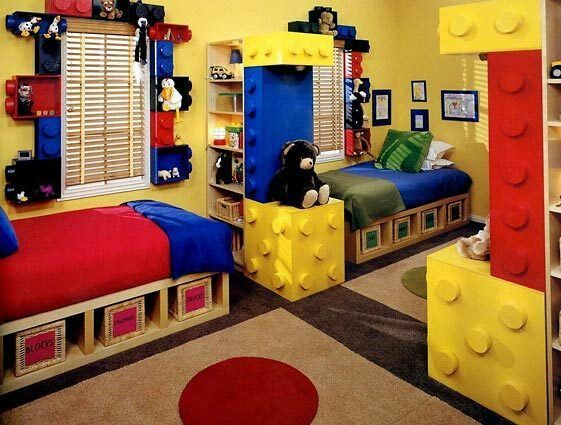 Primary colours are the great accent in kids room, this can be used as a coloristic surprise........