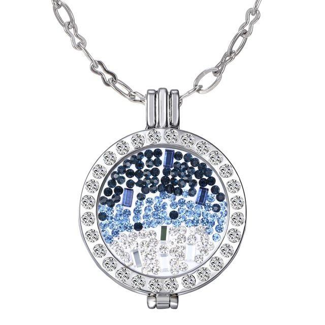 Мой монета ми 35 мм монета держатель ожерелья подходят 33 мм монеты белый кристаллический прелести женщина подарок декоративные мода ювелирных медальон