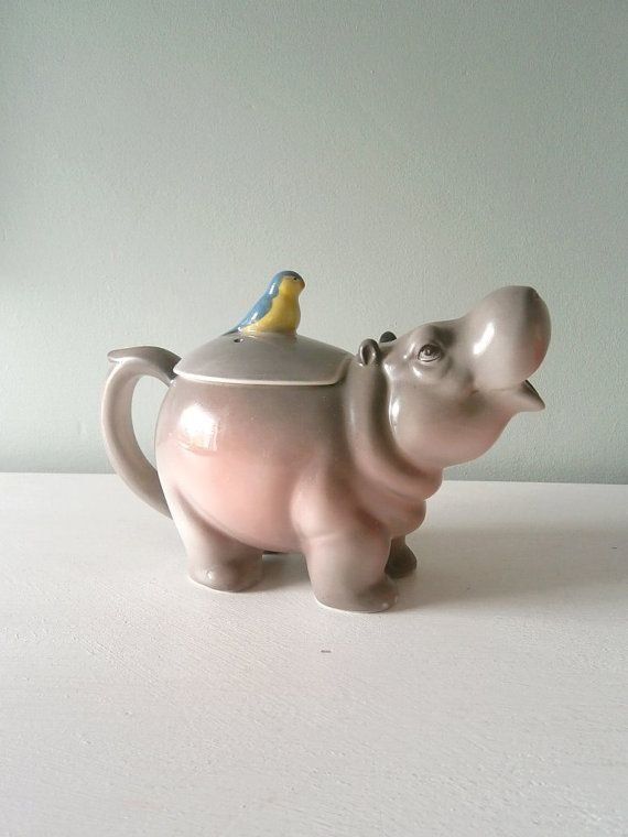 Hey, I found this really awesome Etsy listing at https://www.etsy.com/listing/190585126/vintage-hippo-teapot-bob-hersey-hippo-t