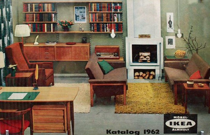 Cover of the 1962 Ikea Catalogue.  Beam me back in time...cheap and gorgeous and probably reasonable quality for today's standards