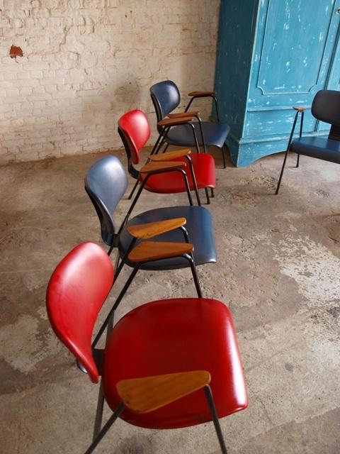 Superb F Armchairs by Willy Van der Meeren for Tubax Belgium
