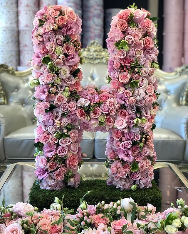 H Is For The Jlf Standing Letters Numbers Are Now Available Online Funeral Flower Arrangements Fresh Flower Delivery Flower Delivery