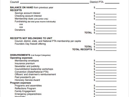 free church financial statement template | Statement ...
