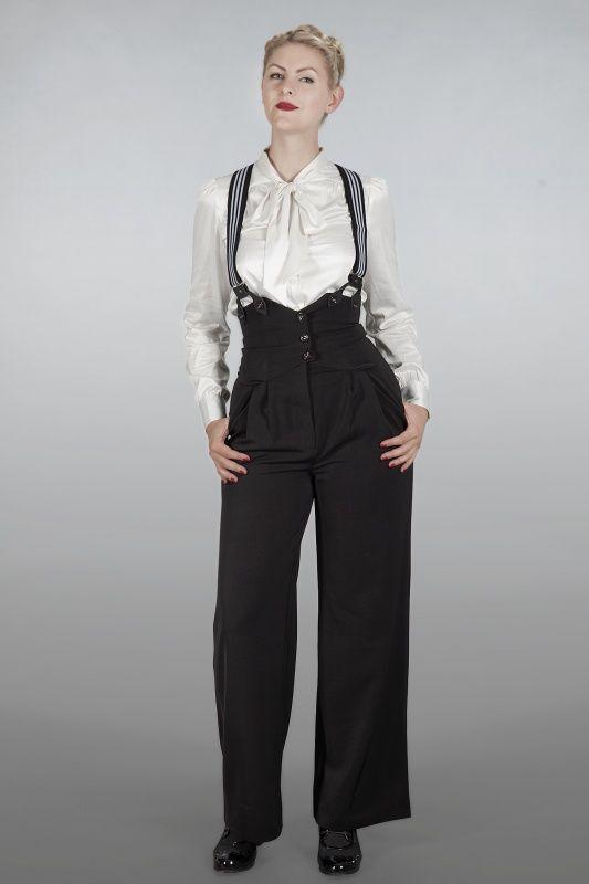1930's Miss fancy pants Black   Broeken en rokjes   Misspoppywear, retro boetiek