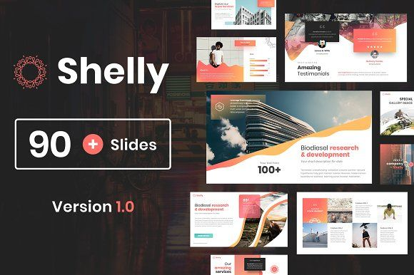 Powerpoint Presentation Template  Shelly by Reshapely marketing - marketing timeline template