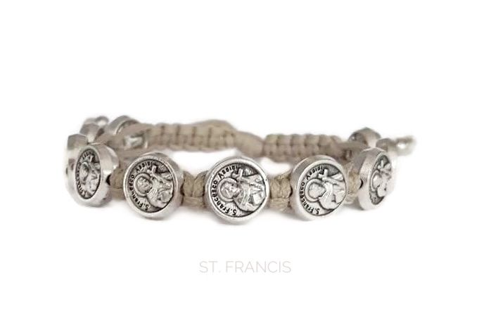 St Francis Bracelet Of Isi Patron Saint Catholic Medal Bracelets And Etsy