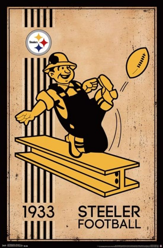 Pittsburgh Steelers - Retro Logo 14 Poster Print (24 x 36) - Item # TIARP13181 - Posterazzi