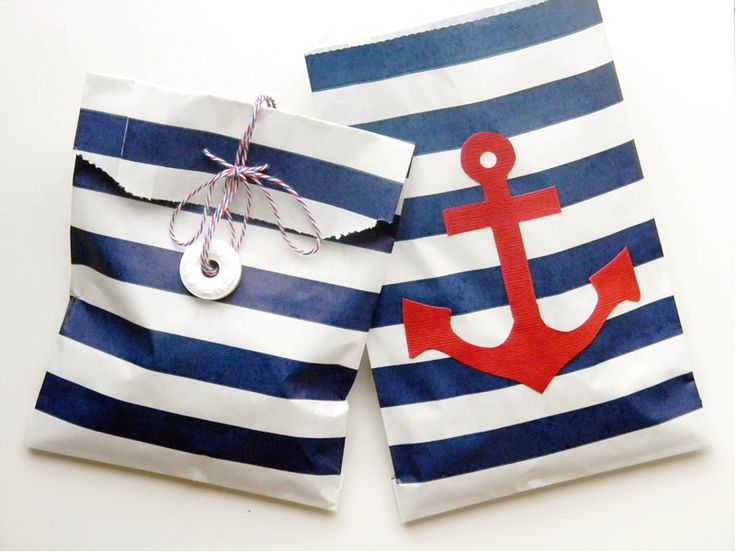 Amy is the Party | Nautical Party Favor Bag with Whisker Graphics
