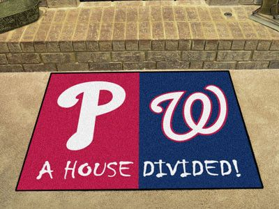 MLB House Divided - Phillies / Nationals House Divided Mat