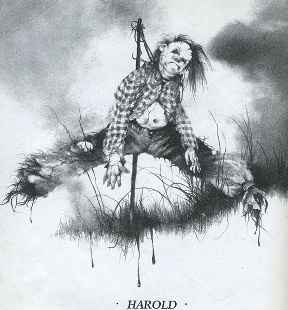 "The 15 Most Disturbing Illustrations From ""Scary Stories To Tell In The Dark"" 1990s books"