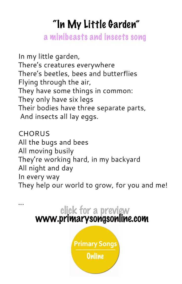 A song for minibeasts, living things or insects unit.  Children's songs, assembly ideas and items or a concert item.