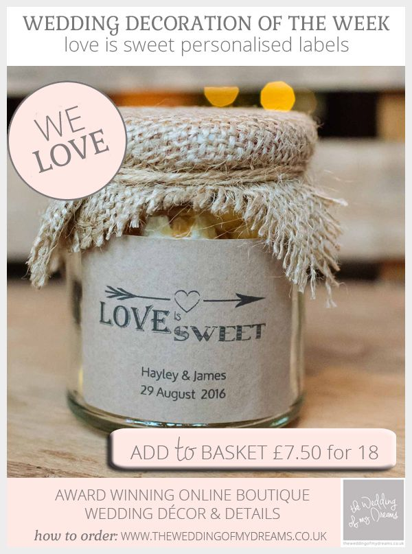 Love Is Sweet Personalised Labels – Rustic Style