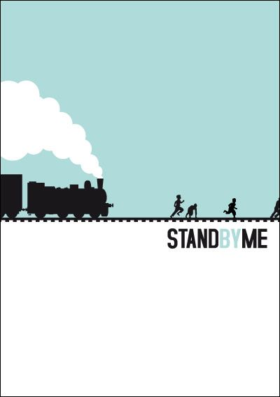 "Minimal Movie Posters -  Alternative poster from the movie ""Stand by me""    No artist cited"