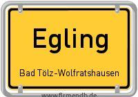 Ortsschild von Egling