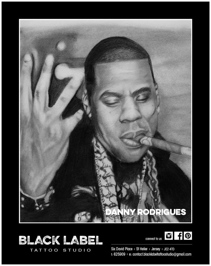 "Black Label Tattoo Studio | Artist: Danny Rodrigues ""Jay-Z"" | Pencil Drawing, Sketch, Portrait"