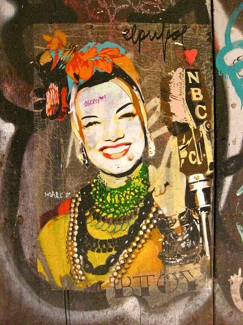 Carmen Miranda Graffiti Barcelona