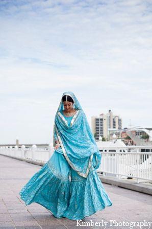 Soothing blue Gharara
