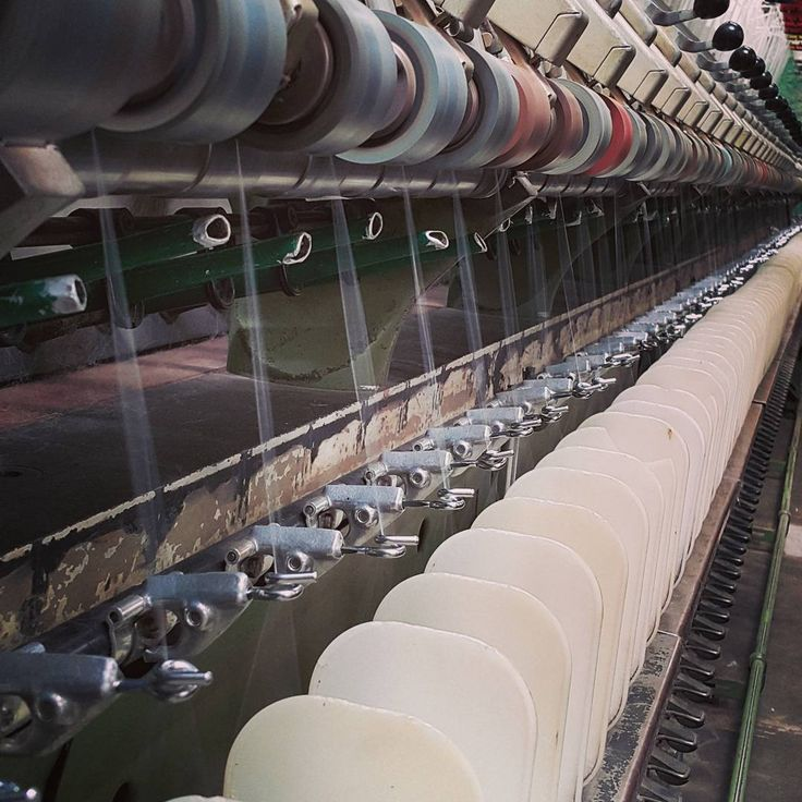 All go in the mill today - pity we don't do heat-agram, mid summer spinning means is hot work on the frames today.  #yarnporn #theyarnkitchen #skeinz #yarnmill #yarnlovers #yarnaddict #itshotinhere