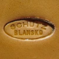 Used after 1900, oval containing 'SCHÜTZ' over 'BLANSKO'.